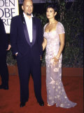 Married Actors Bruce Willis and Demi Moore at Golden Globe Awards