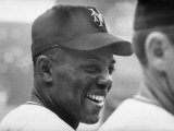 Giants Player  Willie Mays  Joking with Fellow Players During Warm-Up