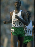 Track Athlete Kip Keino in Action at the Summer Olympics