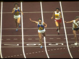 East German Athlete Renate Stecher Winning the 200 Meter Race at the Summer Olympics
