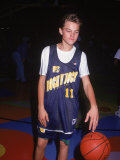 Actor Leonardo Dicaprio in Basketball Uniform