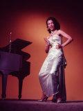 Singer Actress Dorothy Dandridge Posing by a Piano