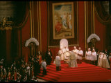 Pope Paul Conducting Opening Ceremonial Mass of 2nd Vatican Council  St Peter's Basilica