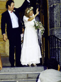 Professional Tennis Player John Mcenroe and Tatum O'Neal on their Wedding Day