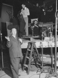 "Alfred HitchcockOn Film Set During Shooting of ""Lifeboat"""