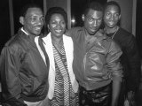 Actor Comedian Eddie Murphy with Father Vernon Sr  Mother Lillian and Brother Vernon Jr