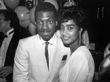 Actor Comedian Eddie Murphy and Fiancee Lisa Figueroa at Mtv Music Video Awards
