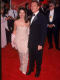 Television Journalist Maria Shriver and Husband  Actor Arnold Schwarzenegger  at Academy Awards