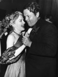 Actress Anne Baxter and Director Orson Welles Attending the Cannes Film Festival