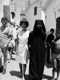 Author Jane Bowles and Her Friend Cherifa Walking the Streets of Tangier
