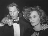 Playwright Sam Shepard with Actress Jessica Lange at Opening of New York Film Festival