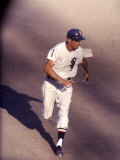 Chicago White Sox Outfielder Jim Landis Running During White Sox-Cleveland Game
