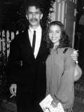 Musician Frank Zappa and Daughter Moon Unit  Fundraiser for Presidential Candidate Michael Dukakis