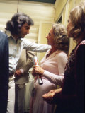 Singer Neil Diamond and Ethel Kennedy Talking after Rfk Benefit
