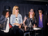 Members of the Rock Group Guns N&#39; Roses Slash  Duff Mckagan  Axl Rose and Izzy Stradlin
