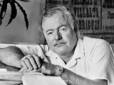Author Ernest Hemingway in Fishing Village