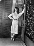 "Actress Katharine Hepburn in Costume on the Set of Her Broadway Play ""The Philadelphia Story"""