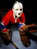 Jacques Plante  Goalie of the Montreal Canadiens Wearing a Mask