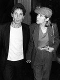 Musician Paul Simon with Longtime Girlfriend  Actress Carrie Fisher  at the Savoy