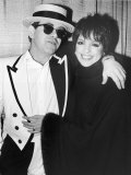 Singers Elton John and Liza Minnelli Backstage at Madison Square Garden before Elton&#39;s Performance