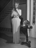 Actress Carloe Landis  Lighting Her Cigarette
