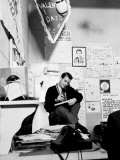 """American Bandstand"" Host Dick Clark on the Phone in His Office"