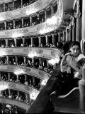 Operagoers Luxuriating in Ornately Elegant Boxes During Intermission at La Scala Opera House