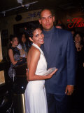 Actress Halle Berry with Husband  Baseball Player David Justice