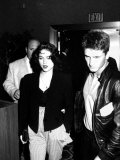 Singer Madonna and Husband Sean Penn Walking to Seats at Tyson-Spinks Fight