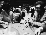 Singer Nancy Wilson  Actress Leslie Uggams  and Comedian Bill Cosby Playing Blackjack at the Sands