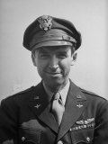 Niformed Pilot Actor  Col Jimmy Stewart  in His Hometown Upon His Return from WWII
