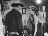 "Director Howard Hawks Coaching Actress Angie Dickinson on Set for ""Rio Bravo"""