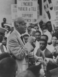 A Philp Randolph Addressing a Negro Civil Rights Rally Held Outside Gop Convention