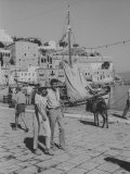 "Actress Melina Mercouri and Tony Perkins on Island of Hydra During Filming of ""SS Phaedra"""