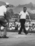 Jack Nicklaus and Arnold Palmer  in Playoff at Nat&#39;L Open Golf Championship