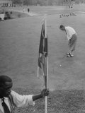 Bobby Locke Playing Golf