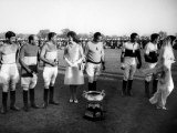 Mrs John F Kennedy and Gayatri Devi with Team in Jaipur State after She Presented Cup