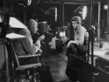 Director Howard Hawks Conferring with Actress Angie Dickinson on Set for &quot;Rio Bravo&quot;