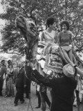 Mrs John F Kennedy and Princess Stanislas Radziwill Riding Camel