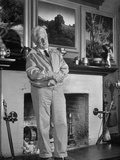 Artist Maxfield Parrish at His Home Studio in Famed Art Colony