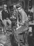 Actress Angie Dickinson on Set for &quot;Rio Bravo&quot; with Actor John Wayne