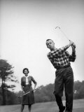 Astronaut Alan B Shepard and His Wife Playing Golf