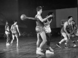Harlem Globetrotters Playing a Basketball Game
