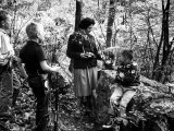 Biologist Author Rachel Carson Holding Camera with Children and Dog in Woods Near Her Home