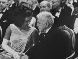 First Lady Jackie Kennedy W Robert Frost at White House Party for Nobel Prize Winners