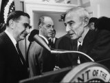 Scientist Edward Teller  Congratulating Fermi Award Winner J Robert Oppenheimer
