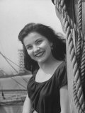 Starlet Debra Paget  Smiling