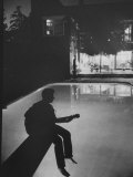 Singer Ricky Nelson Playing Guitar on Poolside