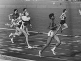 US Sprinter Wilma Rudolph During Women's 400-Meter Relay Race in Olympics