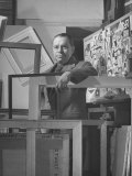 Artist Stuart Davis Standing in His Studio